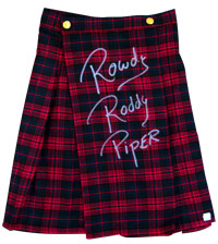 Rowdy Roddy Piper Autographed Kilt