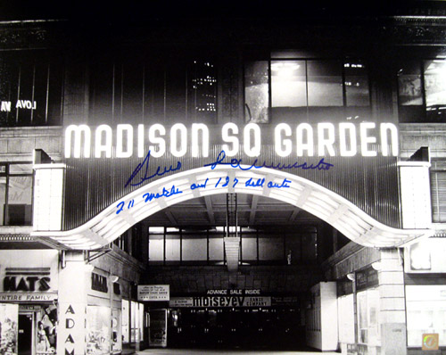 Bruno Sammartino Signed 16x20 Madison Square Garden Photo With