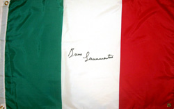 Bruno Sammartino Signed Italian Flag