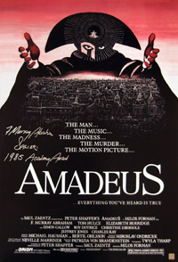 F Murray Abraham Autographed Amadeus Movie Poster