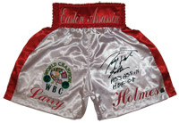 Larry Holmes Signed Boxing Trunks