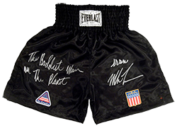 """The Baddest Man On The Planet"" Iron Mike Tyson Autographed Boxing Trunks"