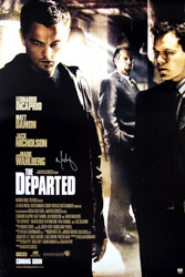 Mark Wahlberg Signed The Departed Movie Poster