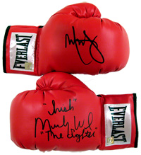 "Mark Wahlberg & ""Irish"" Micky Ward ""The Fighter"" Signed Everlast Boxing Gloves"