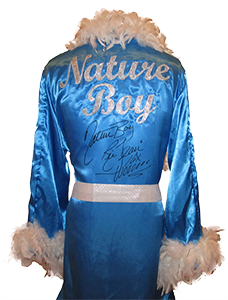 Ric Flair Signed Baby Blue Wrestling Robe