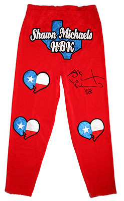 Shawn Michaels Autographed Red Heartbreak Kid Tights