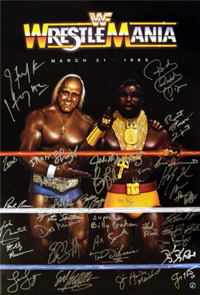 Hulk Hogan & Wrestlemania Legends Signed Poster