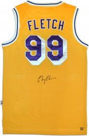 "Chevy Chase ""Fletch\"" Autographed Los Angeles Lakers Jersey"