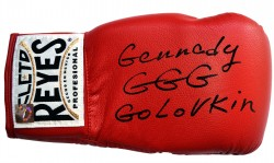 "Gennady ""GGG\"" Golovkin Autographed Cleto Reyes Red Boxing Glove"