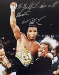 """The Baddest Man On The Planet"" Iron Mike Tyson Signed 16x20 Photo w/ Don King"