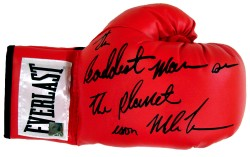"""The Baddest Man On The Planet"" Iron Mike Tyson Autographed Everlast Glove"