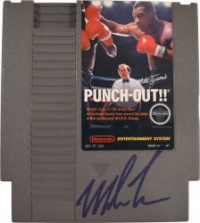 Mike Tyson Autographed Nintendo Punch Out Video Game