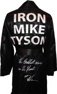 """The Baddest Man On The Planet"" Iron Mike Tyson Signed Boxing Robe"