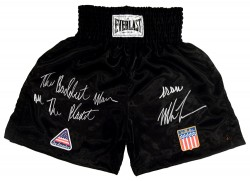 """The Baddest Man On The Planet"" Iron Mike Tyson Signed Boxing Trunks"