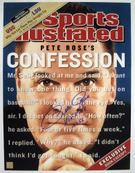 Pete Rose SI Confession Cover Autographed 16x20