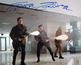 Sylvester Stallone Autographed EXPENDABLES 16x20 Photo