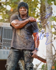 Sylvester Stallone Autographed RAMBO IV 16x20 Photo
