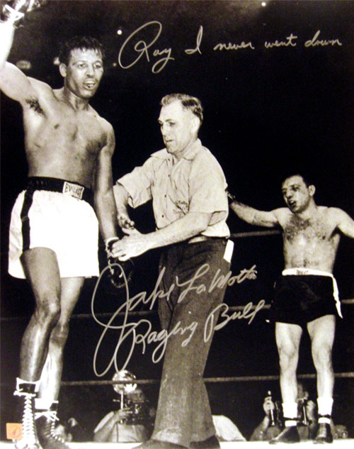 Jake LaMotta Raging Bull Autographed 16x20 Photo With