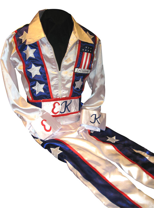 Evel Knievel Autographed Full Size Jumpsuit