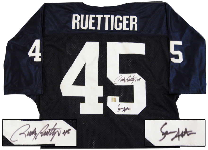 cheap for discount ad098 88c92 Sean Astin & Rudy Ruetiger Autographed Notre Dame Jersey ...