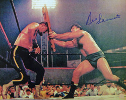 Bruno Sammartino Signed 16x20 Photo vs Killer Kowalski