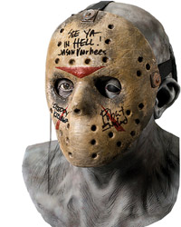 Robert Englund Autographed Jason Voorhees Mask and Bust
