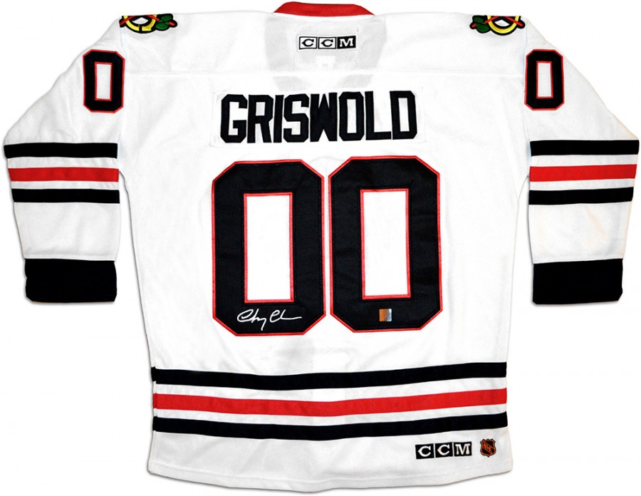 newest 8b0ca e3a33 Chevy Chase 'Clark Griswold' Signed CCM Chicago Blackhawks ...