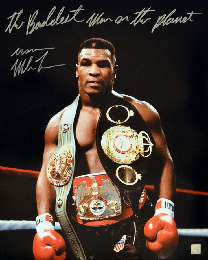 The Baddest Man On The Planet Iron Mike Tyson Signed