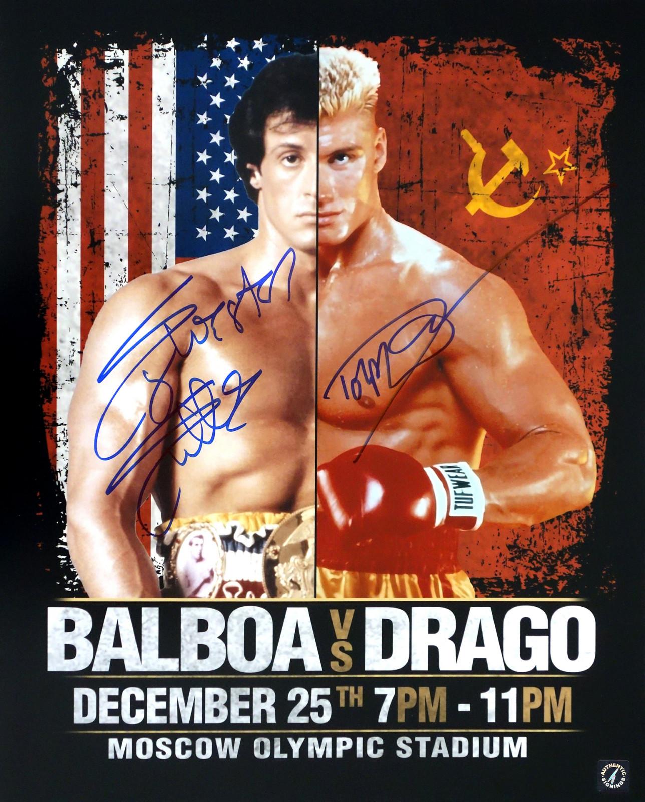 FP Dolph Lundgren Ivan Drago Signiert Autogramme 25cm x 20cm Foto