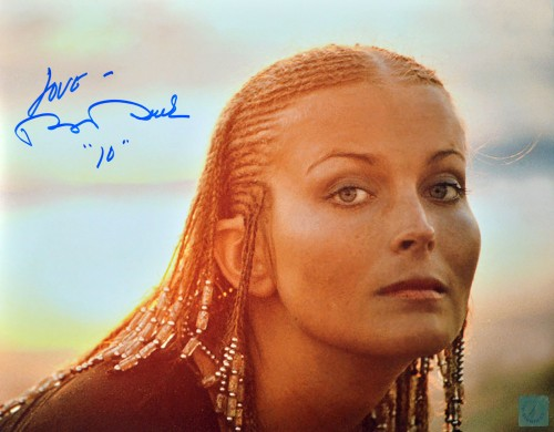 Bo Derek Autographed Sunset Headshot 11x14 Photo