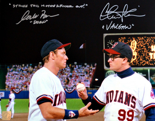 Charlie Sheen & Corbin Bernsen Autographed Major League 11x14 Photo w/