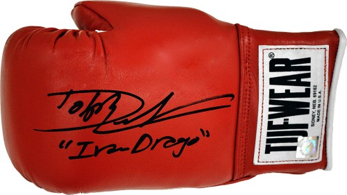 "Dolph Lundgren ""Ivan Drago"" Autographed Tuf Wear Boxing Glove"