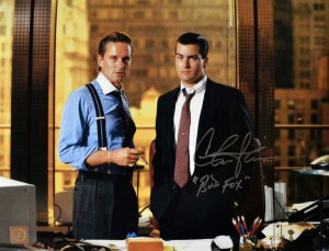 "Charlie Sheen ""Bud Fox"" Autographed Wall Street 11x14 Photo w/ Michael Douglas"
