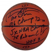 Dennis Rodman Autographed NBA Spalding Indoor/Outdoor Stat Basketball