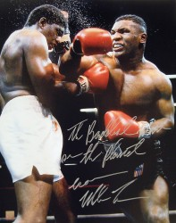 """The Baddest Man On The Planet ""Iron Mike Tyson Autographed 16x20 Photo vs Tillis"