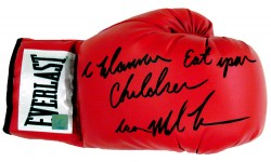"""I Wanna Eat Your Children"" Iron Mike Tyson Autographed Everlast Boxing Glove"