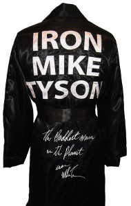 """The Baddest Man On The Planet"" Iron Mike Tyson Autographed Boxing Robe"