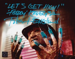 "Robert Englund Autographed 8x10 Photo With ""Let's Get High, Freddy Krueger"" Inscription"