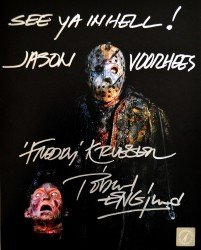 "Robert Englund Autographed ""See Ya Hell! Jason Voorhees"" 8x10 Photo ASI Proof"