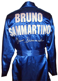 Bruno Sammartino Signed Blue Wrestling Robe